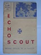 ECHO SCOUT N° 8 1954 Organe Officiel De La F.E.C.C.B. Scoutisme En Congo Belge 24 Pages - Books, Magazines, Comics