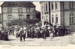 VOISEY. INAUGURATION DU MONUMENT DES SOLDATS MORTS POUR LA PATRIE (11 JUILLET 1920) - France