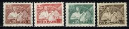 Polska 1949 Yv  557/60**  MNH - Neufs