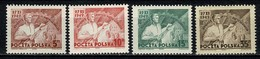 Polska 1949 Yv  557/60**  MNH - 1944-.... République