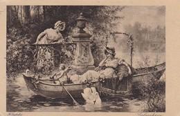 AK Liebesahnen - H. Zatzka - Frau Und Putto In Ruderboot - Schwäne - (42115) - Frauen