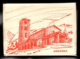 !! ANDORRA ANDORRE  Carnet Dépliant N° 8 Pantebre 20 Vues Avec Papier Cristal Origine Couverture St Joan Caselles - Andorra