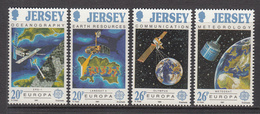 1991 Jersey Satellites Communications   Complete Set Of 4 MNH @  WELL BELOW FACE VALUE - Jersey