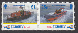 1999 Jersey Lifeboats Rescue Complete Pair MNH @   BELOW FACE VALUE - Jersey