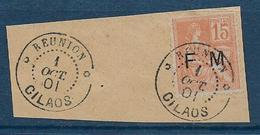 France - F.M. N° 1 Oblitéré  REUNION  CILAOS Sur Fragment - Franchise Militaire (timbres)