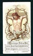 GESU' CROCIFISSO  - E - PR (in Tedesco) - Mm. 67 X 122 - CROMOLITOGRAFIA - Religione & Esoterismo
