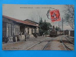 MONTAGNAC (Hérault) - La Gare - Arrivée D'un Train Voyagée En 1908 Colorisée TTB - France
