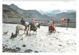Island - Iceland - Thorsmörk - River Krossa - Horse - Pferde - Nice Stamp - Timbre - Island
