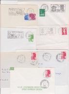 Lot De 7 Lettre TàD Manuel + SECAP Flamme BPM Bureau Postal Militaire 83998 DRAGUIGNAN ARMEES Dont Sur Liberté - Sellos Militares Desde 1900 (fuera De La Guerra)