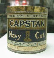 AC - CAPSTANNAVY CUT MEDIUM WD & HO WILLS LONDON TOBACCOEMPTY VINTAGE TIN BLIX BOX FINE CONDITION - Contenitori Di Tabacco (vuoti)