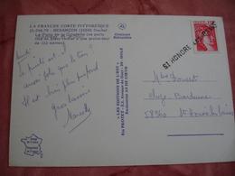 Saint Honore Les Bains Griffe Marque Postale Lineaire Obliteration Sur Lettre - Marcophilie (Lettres)