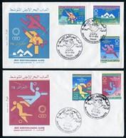 ARGELIA / ALGERIA / ALGÉRIE (1975) - Jeux Méditerraneens Alger 75 - Olympics - First Day Covers / Plis Premier Jour Oran - Argelia (1962-...)