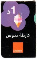 "Phonecard Télécarte Orange Tunisia Tunisie - "" Danous "" Telefonkarte Telefonica Utilisée Used - Tunisia"