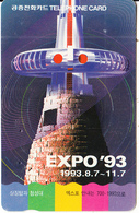 """SOUTH KOREA - Symbol Tower And Cheumseong Eminence, EXPO """"93(reverse Letter K, W3000), 04/93, Used - Korea, South"""