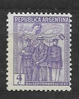 ARGENTINA    1930 Revolution, 1930 Spirit Of Victory Attending Insurgents * MT 333 - Usados