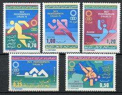 ARGELIA / ALGERIA / ALGÉRIE (1975) - Jeux Méditerraneens Alger 75 - Olympics - Set / Série 5 Val. - Argelia (1962-...)