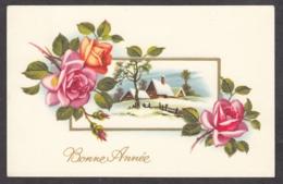97223/ NOUVEL AN, Fleurs, Paysage, Roses - Nouvel An