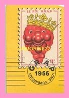 CALENDRIER PUBLICITE  1956  De La Cave De La Ravine Rue De La Tombe Issoire PARIS 14 - Calendarios