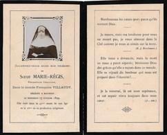 Image De Décés Religieuse Ursuline Bonne Soeur Soeur MARIE REGIS Françoise Villaudy Décédée à BOURGES 1899 - Images Religieuses