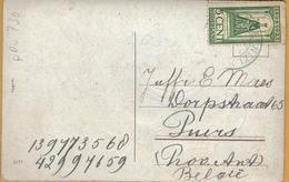 PRv-730: N° 122: VLISSINGEN  1925 : Op Fantasiekaartje: Nieuwjaar > Puers  B  ... Licht Bevuild... - 1891-1948 (Wilhelmine)