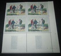 France 1962 Neuf** N° 1363 TABLEAU DE GUSTAVE COURBET BLOC DE 4 TIMBRES - Full Sheets