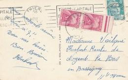 Carte Gandon Taxée Pour Le Double De Manque Arrondi à 10F - Marcophilie (Lettres)