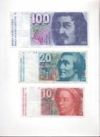 Lot De Billets Suisses - Suiza