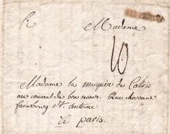 04   SISTERON  :  MARQUE  POSTALE  DE  1783  SUR  LETTRE  .  VOIR  LES  3  SCANS  . - Marcofilie (Brieven)