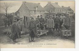 Guerre 1914 1915 Prisonniers Allemands A Coetquidan La Corvé Du Camp - France