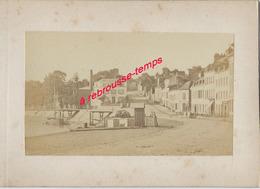 5/ Photo Ancienne Vers 1880 Saint Valéry En Caux (76) - Format Photo 10,4 X6,3 Sur Carton 9,4 X13cm - Lieux