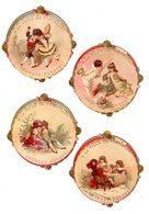 4 Très Rares Chromos Ticket De Chaise, Tickets Grandes Eaux à Neptune, Imp. Fichtenberg - Trade Cards