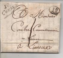 Lettre D'ESPERAZA Avec Cursive De COUIZA (Aude) Postée En Avril 1833, Signée GUIZARD - 1801-1848: Précurseurs XIX
