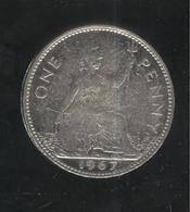 1 Penny Angleterre / UK 1967 Nickelé / Nickel-plated - Exonumia - Grande-Bretagne