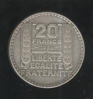 20 Francs France Turin 1933  - TTB - France