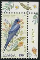 "ARMENIA / ARMÉNIE  / ARMENIEN  -EUROPA 2019 -NATIONAL BIRDS.-""AVES -BIRDS -VÖGEL-OISEAUX""- SERIE CH + VIÑETA EUROPA - 2019"