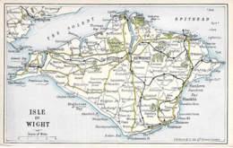 UK United Kingdon - ISLE OF WIGHT : Map / Carte / Kart / Kaart - CPA - - Angleterre