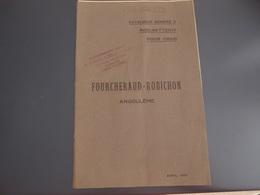 Catalogue Robinetterie Pour Chais Foucheraud Robichon Angoulème 1910 - Publicités