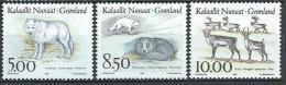 Groënland 1993, N°227/229 Neufs Animaux, Loup, Renard Et Rennes - Groenlandia
