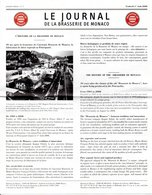 MONACO -- MONTE CARLO -- MONEGASQUE --Le Journal De La Braseerie De Monaco Première édition N° 1 Vendredi 1 Août 2008 - Programs
