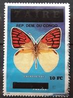 CONGO Butterflies 2000 Stamp Surcharged. USADO - USED. - República Democrática Del Congo (1997 - ...)
