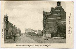 CPA - Carte Postale - Belgique - Middelkerke - Digue De Mer - Rue De L'Eglise - 1901  (B9043) - Middelkerke