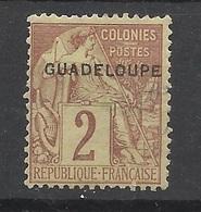 Guadeloupe N°  28  Neuf   (* )  B/TB         Soldé à Moins De 20 % ! ! ! - Ungebraucht