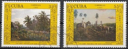 Cuba 1988 Sc. 2995A-2996 San Alejandro Art School : Sanz Carta - E. Morales Quadro Dipinto Paintings Tableaux  CTO - Moderni