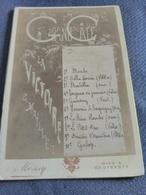 Villa Ambrosetti Nice - Programme Au Grand Café De La Victoire. - Menus