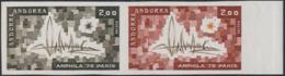 ANDORRA (1975) Arphila. Trial Color Proof Pair. Scott No 241, Yvert No 248. - Andorre Français