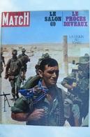 Paris Match N° 1065 Du 4 Oct 1969 - La Légion Au Tchad - Salon De L'auto 69 - General Issues