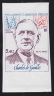 F.S.A.T. (1980) De Gaulle. Imperforate. Yvert No PA61, Scott No C60. - Geschnitten, Drukprobe Und Abarten