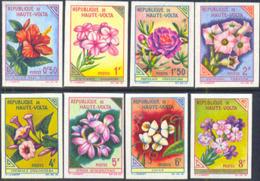 UPPER VOLTA (1963) Flowers. Set Of 16 Imperforates. Scott Nos 111-26, Yvert Nos 113-28. - Opper-Volta (1958-1984)