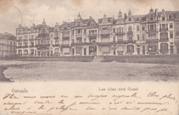 Ostende Les Villas Côté Ouest Circulée En 1900 !!!! - Oostende
