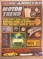 CA167 Autozeitschrift Motor Trend, Jänner 1975, Englisch, GM, Volkswagen Rabbit, Neuwertig - Verkehr